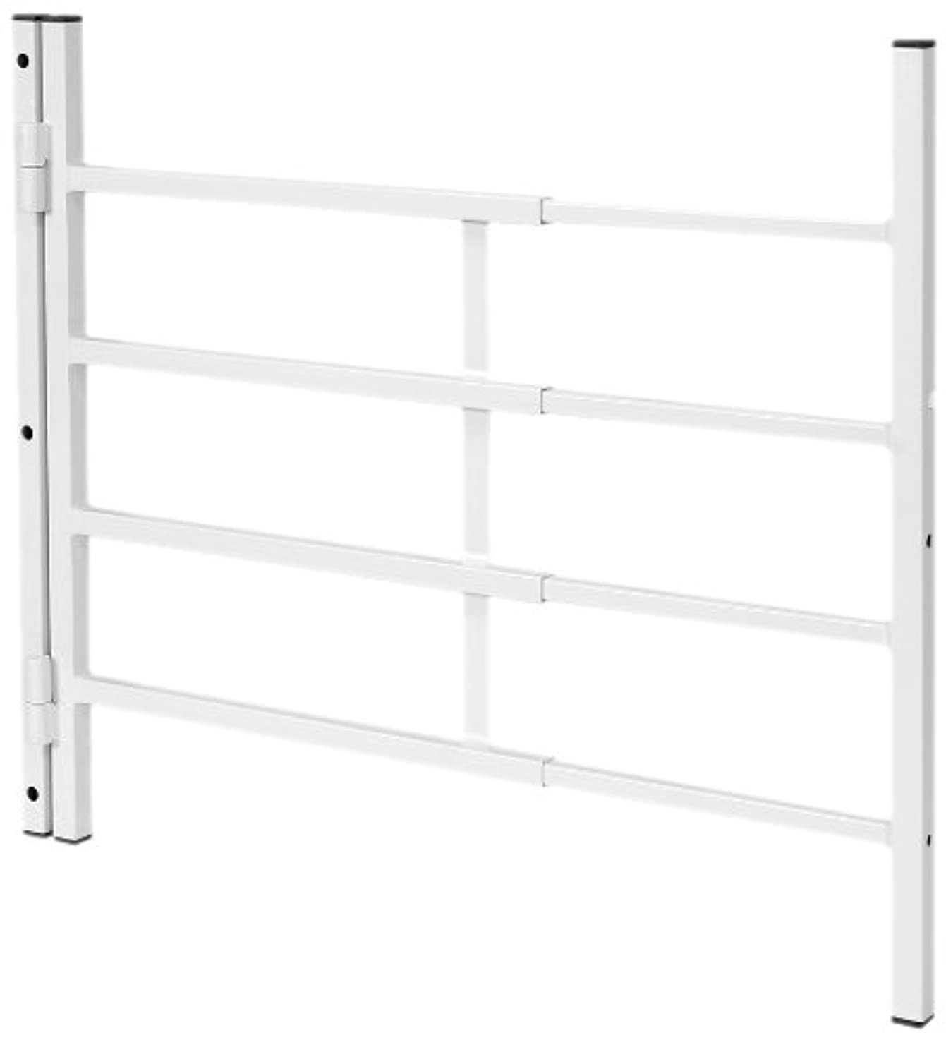 Defender Security SEGAL S 4772 Hinged Window Guard, 14-Inch - 22-Inch x 21-Inch, 4-Bar, Adjustable Width, EGRESS, Painted White, Pack of 1