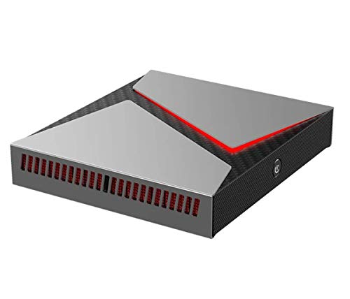 Ovegna MN8: Mini PC Gamer Intel i7-9750H, GTX 1650, 16 GB DDR4 RAM, 256 GB SSD, 1 TB HDD, DisplayPort, 4 USB 3.0, 2 USB 2.0, WiFi, Bluetooth, HDMI 4K, Jack, Windows 10 64bit