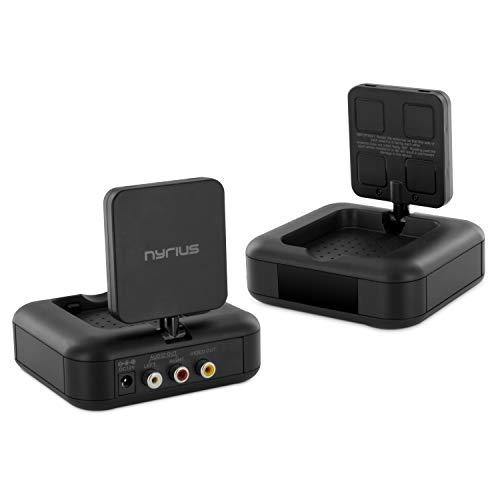 Nyrius 5.8GHz 4 Channel Wireless Video & Audio Transmitter & Receiver with IR Remote Extender for Streaming Cable, Satellite, DVD to TV Wirelessly (NY-GS10) for RCA Cable - Not Compatible with HDMI