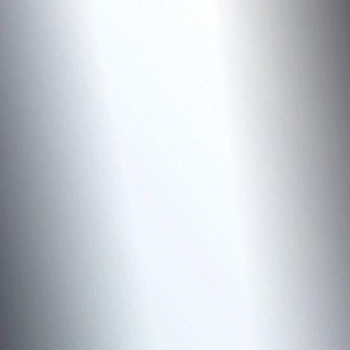 Venilia Klebefolie Industrial Optik Spiegel hochglanz Dekofolie Möbelfolie Tapeten selbstklebende Folie, PVC, silber, 45cm x 1,5m, 350µm (Stärke: 0,35 mm), 53128