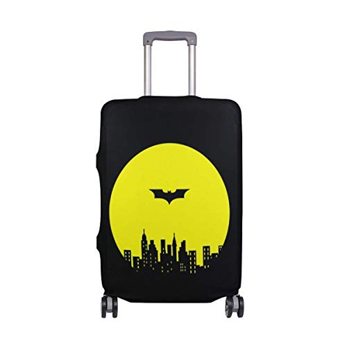 Promini Black Batman Travel Luggage Cover Suitcase Protector Washable Baggage Covers Spandex Elastic Dustproof 18-32 Inch