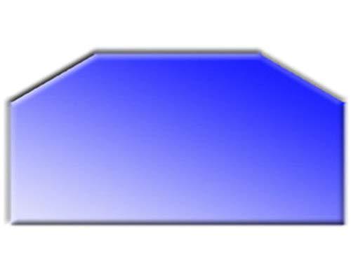 Glasbodenplatte für Kaminöfen Sechseck 1000x500 6mm