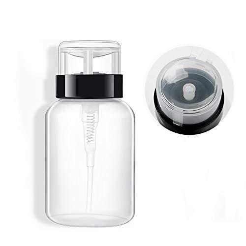 AIUIN Flacon pompe pour Vernis à Ongles Liquide Alcool Acétone Nettoyant 200 ml