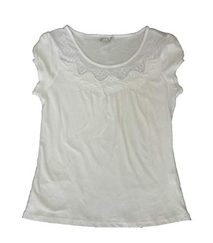 losan - Camiseta Manga Corta - para Mujer Blanca (M)