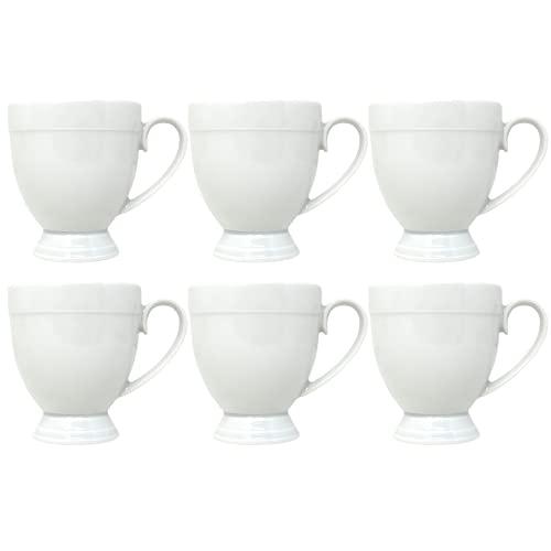 Juego de tazas de café de porcelana de 6 piezas, tazas de café, tazas de café, tazas de café, tazas de café especiales