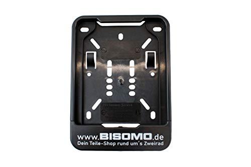 Wechselrahmen Kennzeichen Halter 135x110 für Versicherungskennzeichen m. Bisomo - Druck