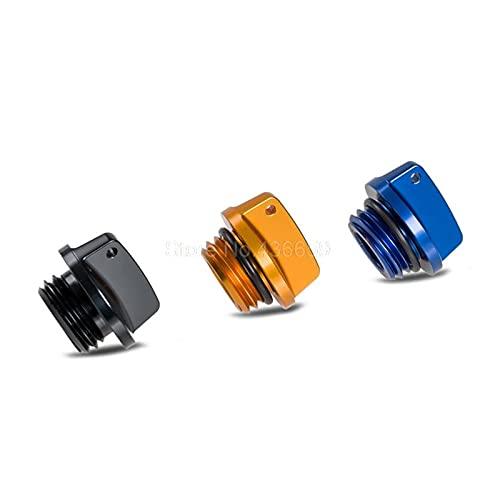YYOMXXOM Suministros de Motocicletas CNC Billet Filler PLADE Cap con FIT DE Yamaha XVS650 XVS1100 XVS1300 V-Star 650 1100 XV535 XV950 YFM600 (Color : Blue)
