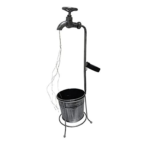 Holmeey Luz de ducha para jardín, de metal, solar, para jardín, iluminación de jardín, lámpara de jardín, lámpara LED para exteriores, forma de cascada