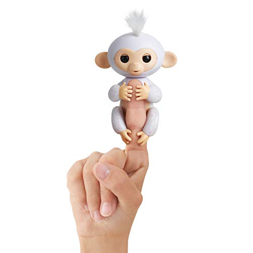 WowWee - Fingerlings Sugar, Monito Interactivo en color blanco con purpurina (WowWee 3763) , color/modelo surtido