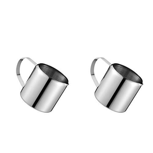 FLAMEER 2 Stücke Metall Milch Aufschäumen Krug Kaffee Aufschäumen Tasse