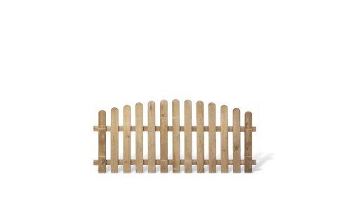 meingartenversand.de Klassisches Friesenzaun Zaunelement günstig Maß 200 x 95 auf 80 cm (Breite x Höhe) aus Kiefer/Fichte Holz, druckimprägniert + genagelt