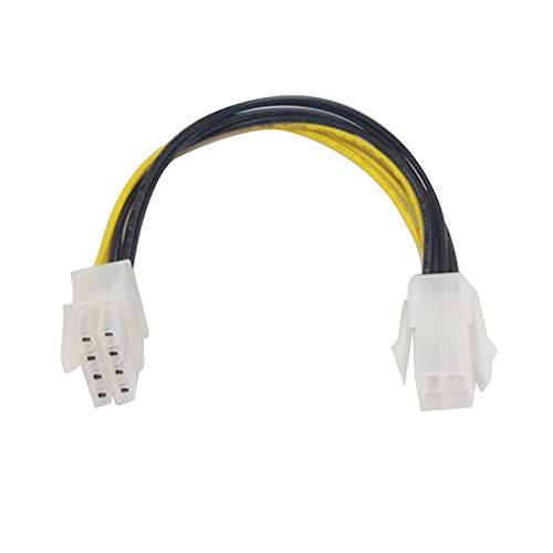 hudiemm0B Cable EPS De 8 Pines A ATX-4 Pines, Cable Adaptador EPS De 8 Pines Macho A ATX-4 Pines Hembra Placa Base CPU Adaptador De...