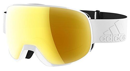 adidas Schneebrillen PROGRESSOR S AD82 Shiny White/Gold Mirror (ANTIFOG) CAT. Unisex