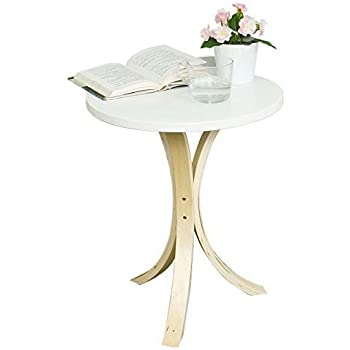 SoBuy® FBT29-W,Mesa velador, Mesa de café, Mesa auxiliares de ...