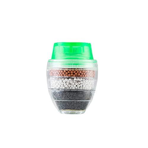 Filtros de montaje para grifo, grifo de ahorro de agua, filtro de agua para grifo, adaptador de filtro de boquilla de grifo, filtro de grifo de cocina Activar carbón elimina cloro 3 piezas