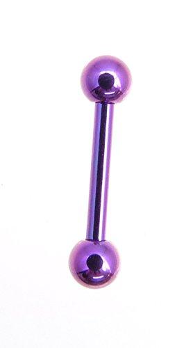 Piercing-dreams banane en titane anodisé avec boules bleu ou violet-taille au choix purpur 1,2x10 Kugel 4mm