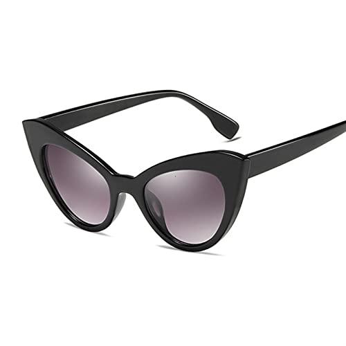 gafas de sol Gafas de sol Ojo de gato Mujeres Vintage Negro Blanco Gradiente Conducción Gafas de sol Mujer UV400 (Lenses Color : Red)