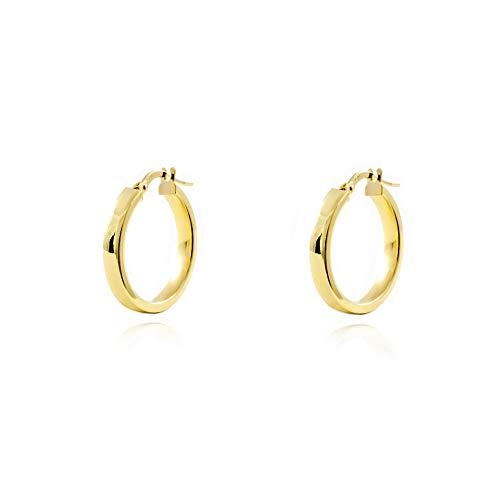Orecchini a cerchio da donna 18.5x3 mm - oro giallo 18K (750)