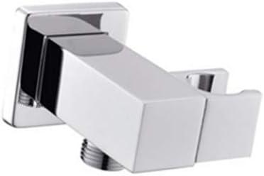 AYIVG Bathroom All Brass Wall Mount Adjustable Hand Held Shower Head Bracket Holder, Chrome Finish