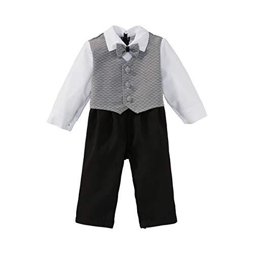 LOKI BY CADEAU Costume 1 pièce Tenue bébé, Noir/Gris