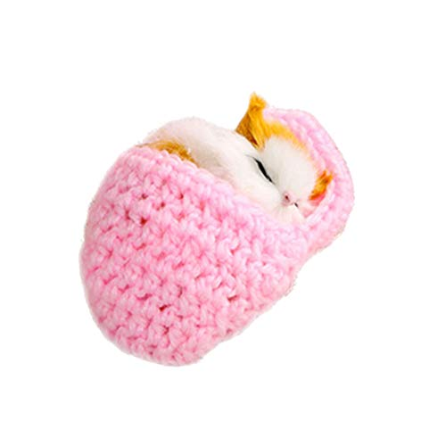 SUPVOX Plüsch Katze in Hausschuhe Baby Plüschtier Kuscheltier Stofftier Weihnachten Geschenk für Mädchen Jungen Kinder Haustier Katzenspielzeug (Rosa)