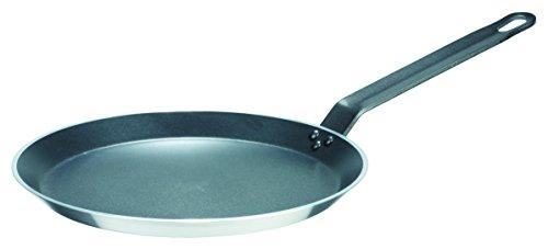 GSW 860925 Gastro traditionell Lyoner Alu Crepe-Pfanne 26cm, Aluminium, Silber/schwarz, 26 cm