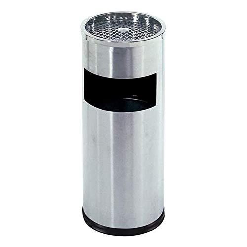 ZXNRTU Fácil eliminación de residuos, Cubos de Basura de pie for Interior/Exterior Uso de Polvo Papelera Cigarrillos cenicero Soporte de Acero Inoxidable