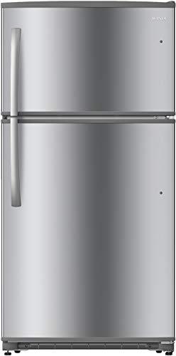 WINIA WTE21GSSLD 21 Cu. Ft. Top Mount Refrigerator/Ice Maker Ready - Fingerprint Resistant Metallic Finish