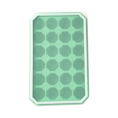 MULIN 24 Cells Frozen Pop Moulds Ice Tube Tray Homemade Dessert Freezer Fruit Juice Ice Pop Mould with Sticks Green