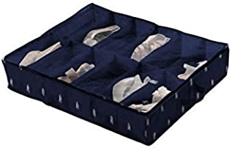 Compactor Kasuri 16 隔间抽屉收纳袋 靛蓝/白色 Under bed Shoe Storage RAN8047