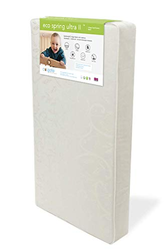 Colgate EcoSpring Ultra II - Organic Cotton Innerspring Crib Mattress with Waterproof Cover, Ecru