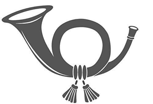 Generic Posthorn Aufkleber Briefkasten Aufkleber in 15cm, 20cm oder 25cm Länge (208/4) (20cm, dunkelgold Glanz)