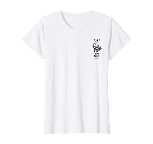 Damen Prosecco Sekt Sekte Im Dienst Champagner Schampus Perlwein T-Shirt