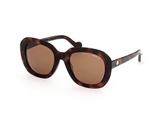 Moncler sonnenbrille ML0141 52E Havana braun größe 54 mm Frau