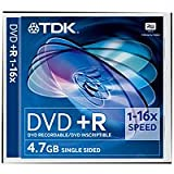 TDK t19437 DVD + R Vierge 4,7 Go (16 x Speed) Lot de 5