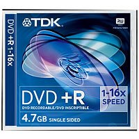 TDK T19437 DVD+R Rohling 4.7GB (16x Speed) 5er Pack