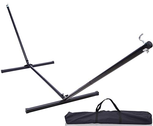 Ohuhu Steel Hammock Stand, 12 FT Heavy-Duty Hammock Stand with Carrying Bag, Detachable & Portable Weather-Resistant Finish Stand with 450 Pounds Capacity, Black