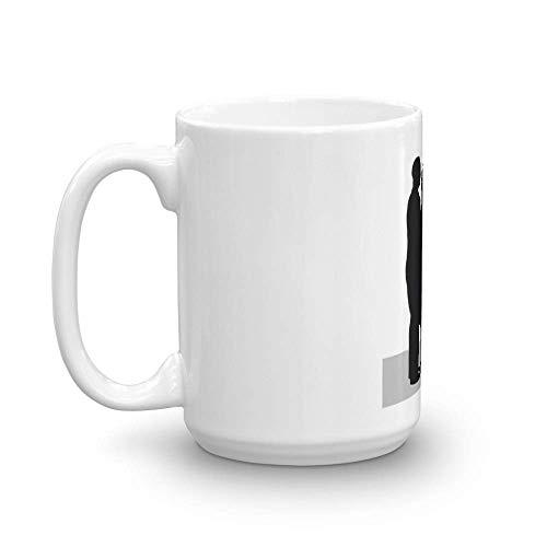 El hombre delgado. Las tazas de 11 oz son el regalo perfecto para todos. Tazas de café clásicas de 11 oz con asa y construcción de cerámica