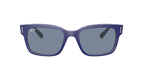 Ray-Ban 0RB2190 Lentes Oscuros, Blue ON Vichy Blue/White, 55 Unisex