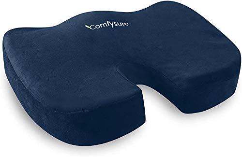 ComfySure Cojín de espuma viscoelástica con funda de microfibra extraíble – coxis, coxis, ciática,...