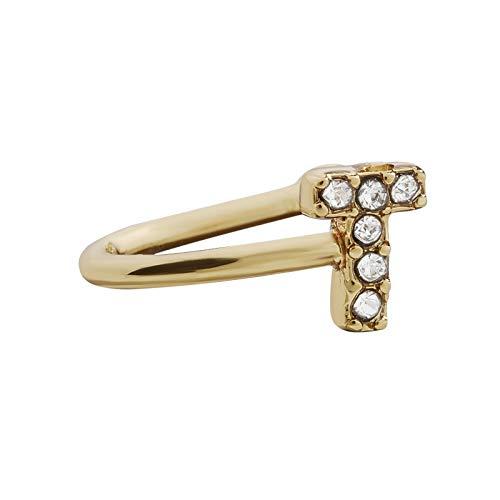 Janly Clearance Sale Pendientes para mujer, 1 diamante personalizado con 26 clips de oreja del alfabeto inglés, conjuntos de joyería, día de San Valentín (T)