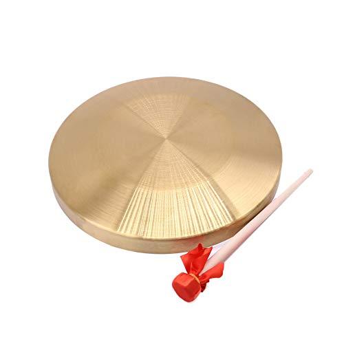 Dasorende 15,5 Cm Durchmesser Alto Hand Gong Kapelle Kupfer Becken Schlagzeug Opera Gong mit Runden Spiel Hammer