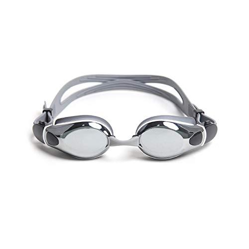 Gafas de natación unisex para adultos, ajuste rápido, antivaho, unisex, color plateado