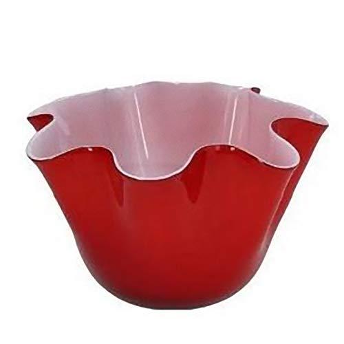 Andrea Fontebasso Vaso cm 23 Vetro Rosso Bizarre