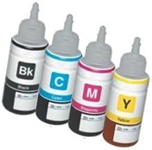 [Set] 4 Cartuchos de Tinta compatibles para EPSON EcoTank ET-2500 ET-2550 ET-2600 ET-4500 ET-4550 ET-14000 L120 L200 L210 L310 L350 L355 L365 L555 L1300   Botellas 70ml T6641 T6642 T6643 T6644