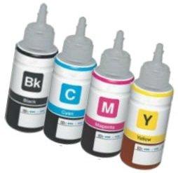 [Set] 4 Cartuchos de Tinta compatibles para EPSON EcoTank ET-2500 ET-2550 ET-2600 ET-4500 ET-4550 ET-14000 L120 L200 L210 L310 L350 L355 L365 L555 L1300 | Botellas 70ml T6641 T6642 T6643 T6644