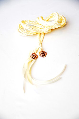 Divinity Braid Copper Ivory Celtic Knot Wedding Handfasting Cord Divinity Braid Celtic Knot