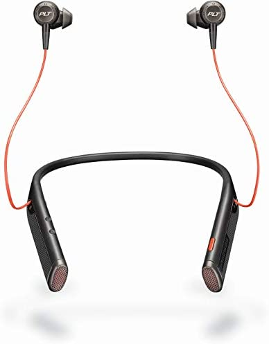 Plantronics Voyager 6200 UC USB C Business Ready Bluetooth Neckband Headset w Earbuds Black product image