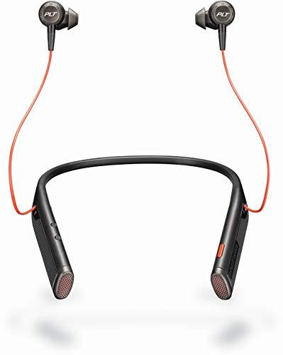 Plantronics Voyager 6200 UC USB-C Business-Ready Bluetooth Neckband Headset w/Earbuds, Black