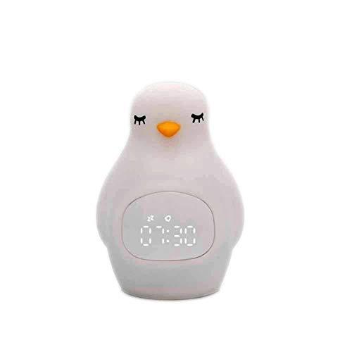 Uhr FANGQIAO SHOP Led-wecker Mit Pinguin Silikon Pat Licht Multi-funktions-USB Aufladen Mit Nachtlicht Studenten Snooze Wecker